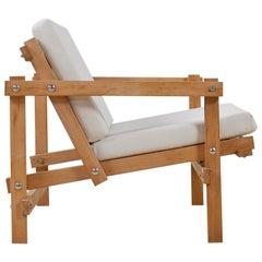 Minimalist Constructivist Modern Chair by Martin Visser Model Cleon, 1974-1986