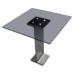 Minimalist Contemporary High Rise I-Beam Dinette Table, USA