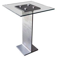 Minimalist Contemporary Mid Rise I-Beam End Table, USA