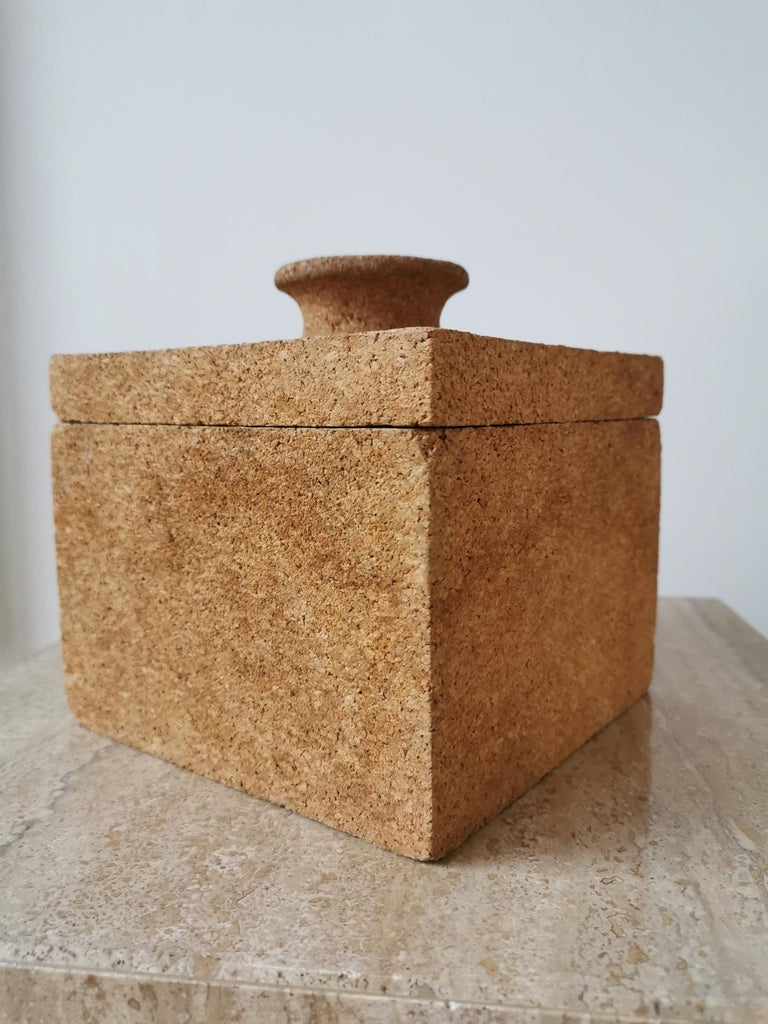Minimalist Cork Ice Bucket, France, 1970s For Sale 1