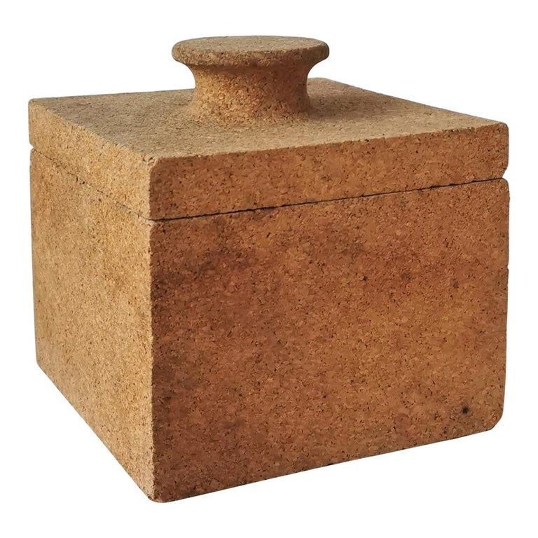 Minimalist Cork Ice Bucket, France, 1970s For Sale