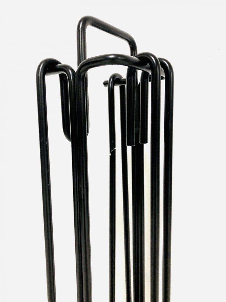 Late 20th Century Minimalist Fire Tool Set by Ann Maes for Mace-Line Holland, 1977 For Sale