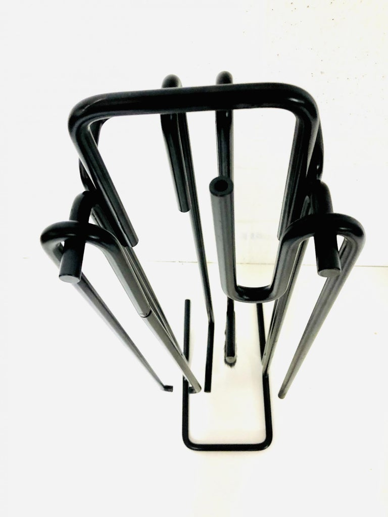 Minimalist Fire Tool Set by Ann Maes for Mace-Line Holland, 1977 For Sale 1