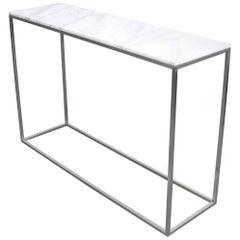 Minimalist Italian White Marble Console Table