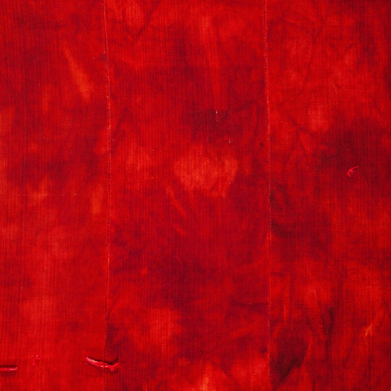 A red diy dyed parde from Central Anatolia, mid-20th century. Pure wool.