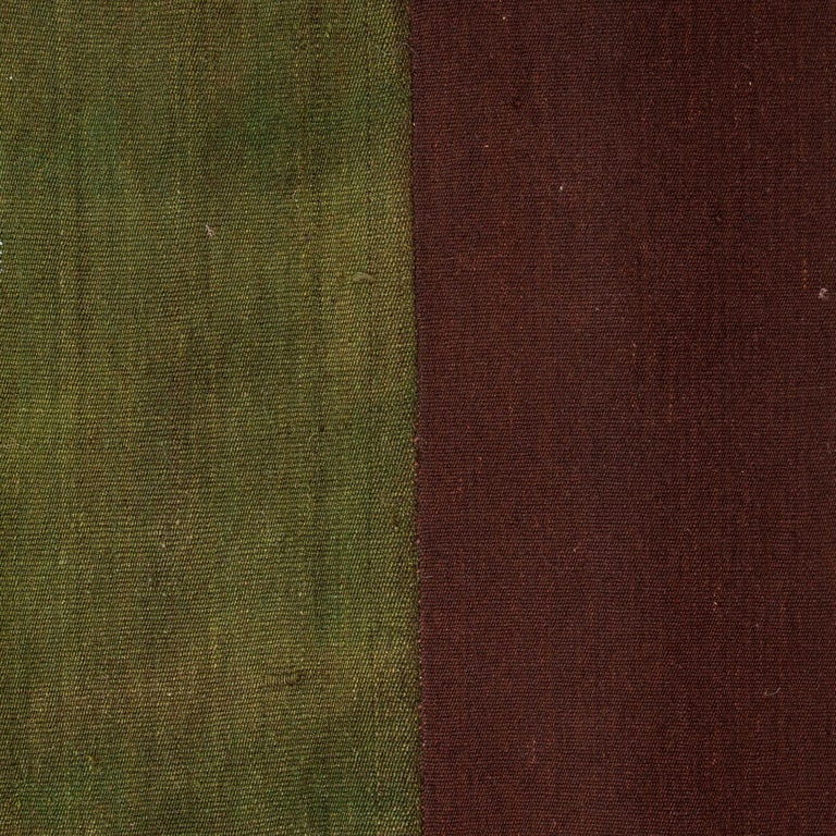 Turkish Minimalist, Kilim, Cover, Perde from Eastern Anatolia, Turkey, Mid-20th Century For Sale