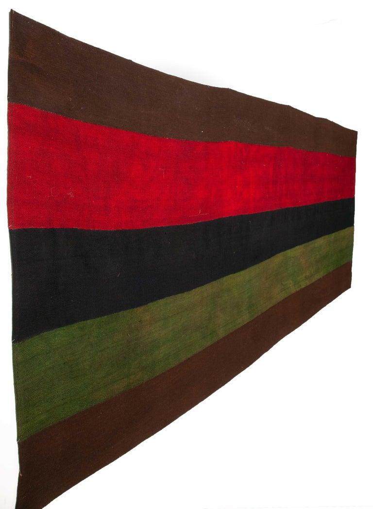 Wool Minimalist, Kilim, Cover, Perde from Eastern Anatolia, Turkey, Mid-20th Century For Sale