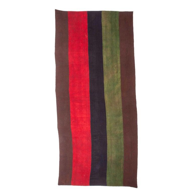 Minimalist, Kilim, Cover, Perde from Eastern Anatolia, Turkey, Mid-20th Century For Sale