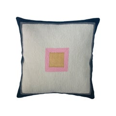 Minimalist Madison Square Hand Embroidered Modern Geometric Throw Pillow Cover
