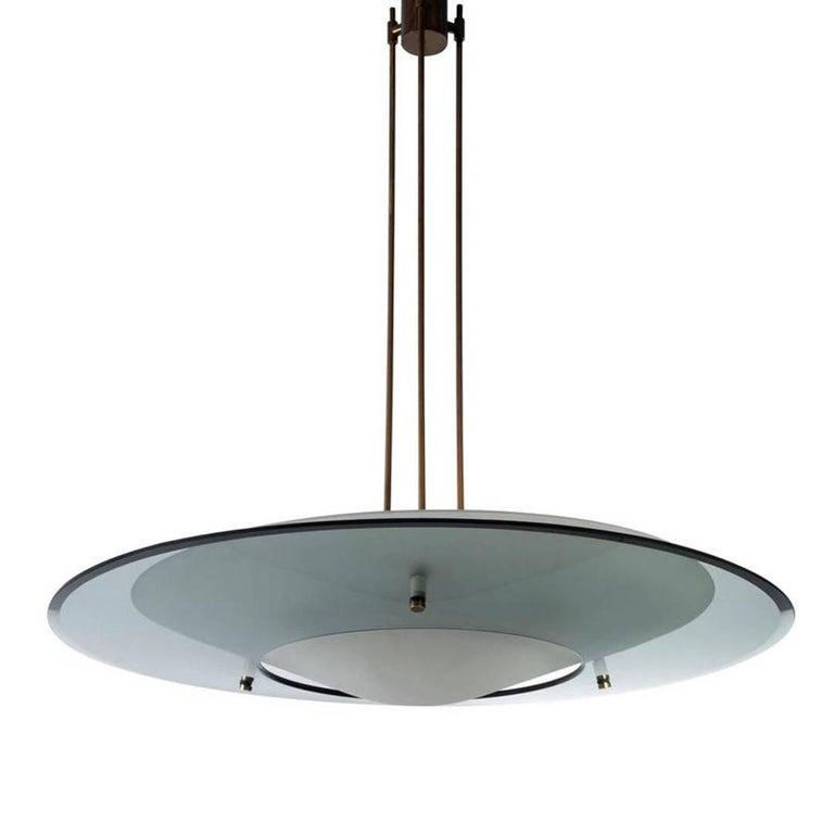 Minimalist Max Ingrand Light Fixture by Fontana Arte