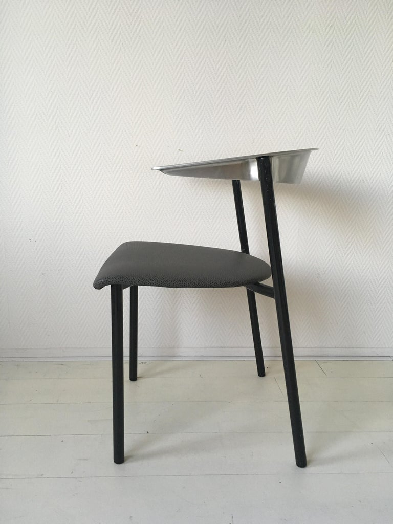 Minimalist Metal Armchairs, Cowhorn Chairs in Style of Borek Sipek In Good Condition For Sale In Schagen, NL