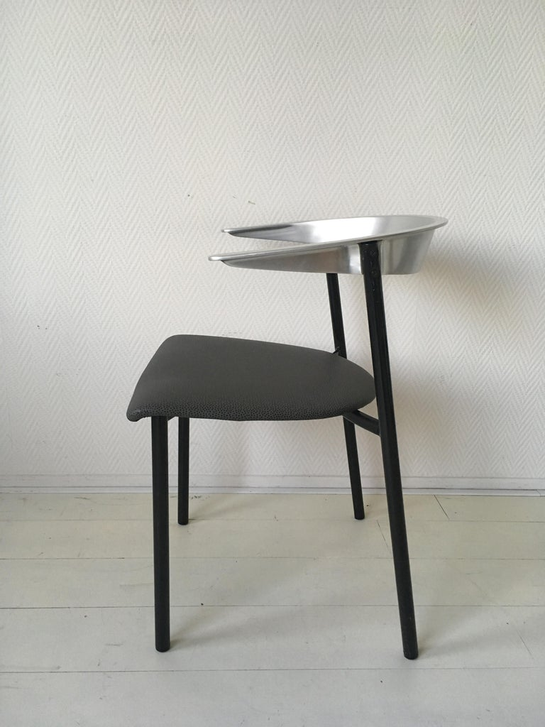20th Century Minimalist Metal Armchairs, Cowhorn Chairs in Style of Borek Sipek For Sale