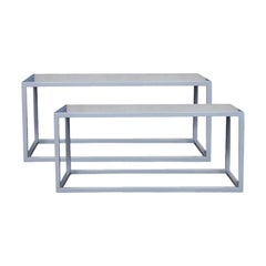 Minimalist Metal Judd Style Benched