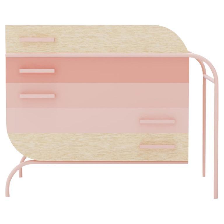 Minimalist Mid-Century Modern Style Credenza in Solid Wood