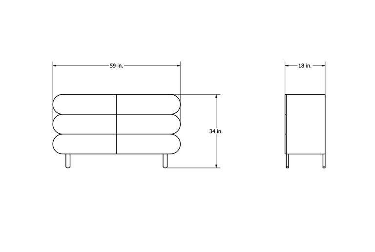 Minimalist Mid-Century Modern Dresser in Solid Wood For Sale 9