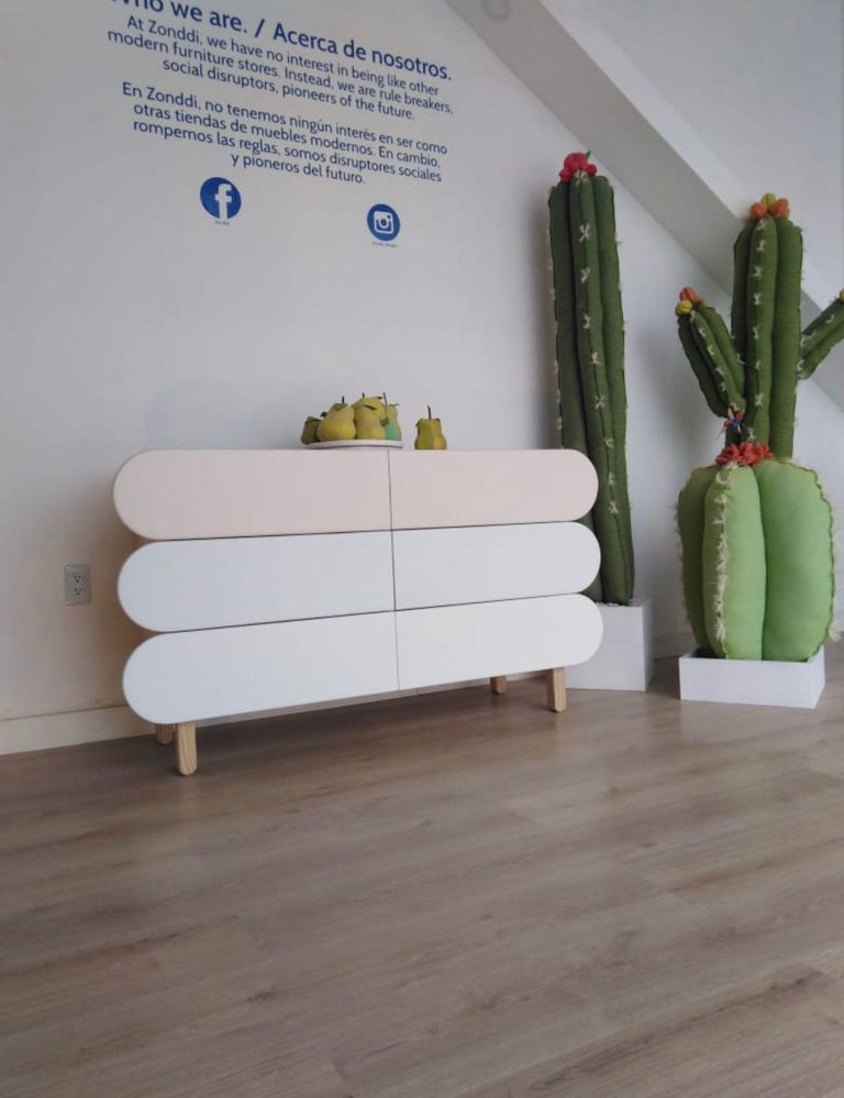 Contemporary Minimalist Mid-Century Modern Dresser in Solid Wood For Sale