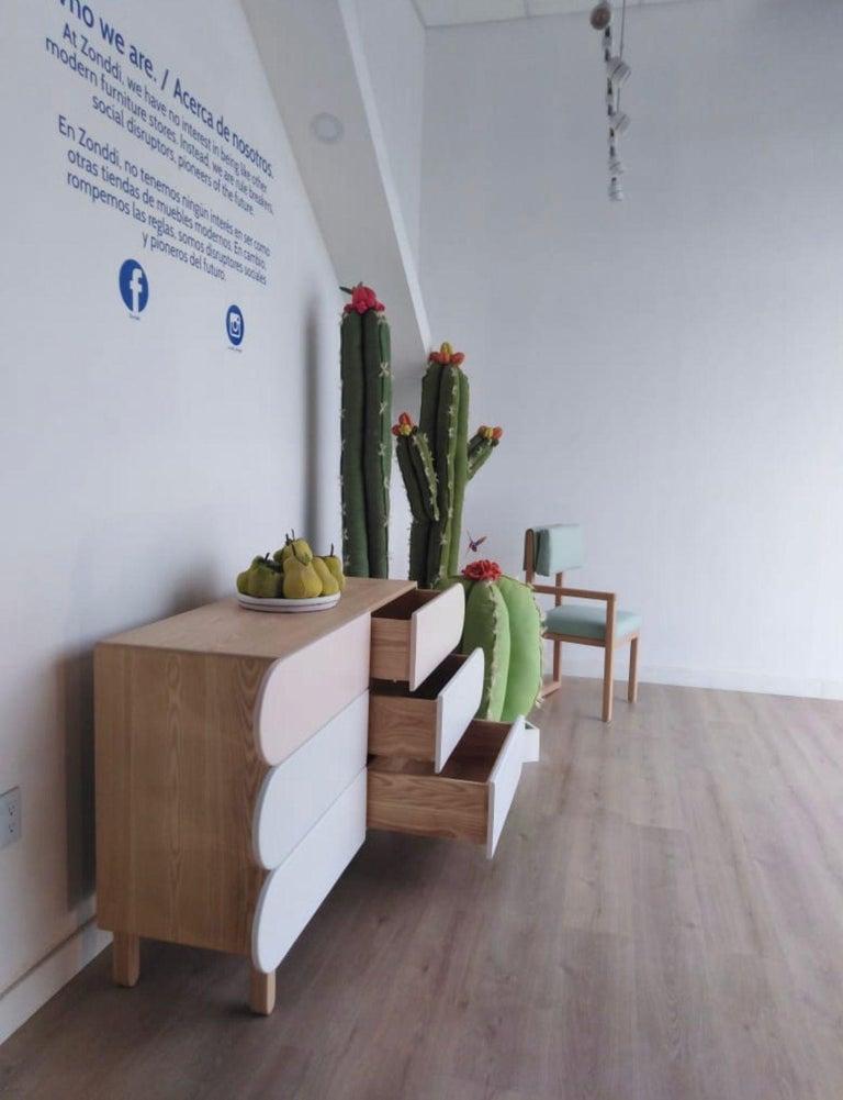 Hardwood Minimalist Mid-Century Modern Dresser in Solid Wood For Sale