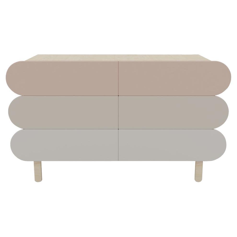 Minimalist Mid-Century Modern Dresser in Solid Wood