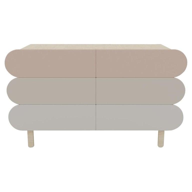 Minimalist Mid-Century Modern Dresser in Solid Wood For Sale