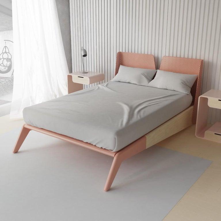 Minimalist Mid Century Modern Queen, Solid Wood Queen Bed