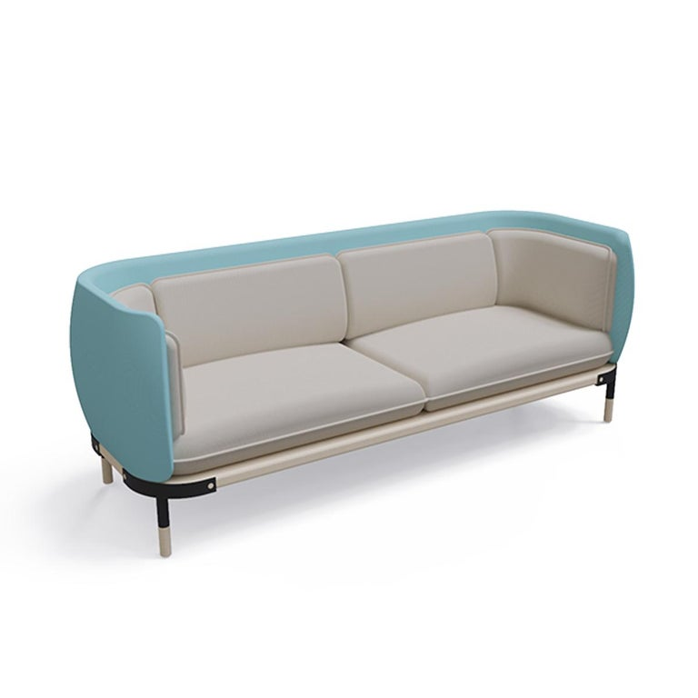 When you add a statement sofa like this one to your space, decorating is practically one and done. The style features tight upholstering over foam cushioning for a look that's both clean and comfortable, and the powder-coated legs give the design a