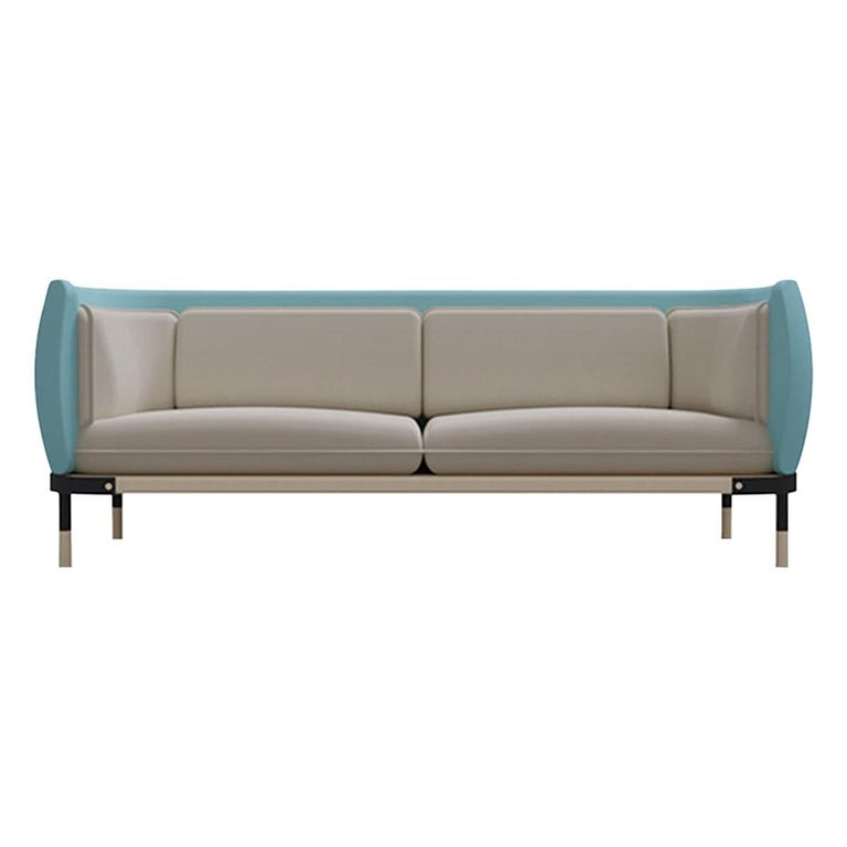 Minimalist Mid-Century Modern Inspired Sofa For Sale
