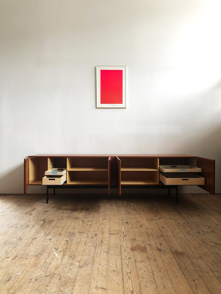 Modern Minimalist Mid Century Teak Sideboard, B40 by Dieter Waeckerlin for Behr