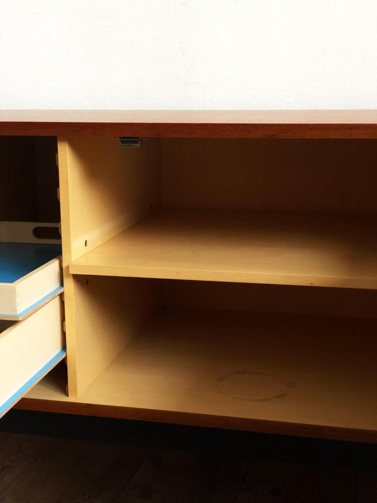 Minimalist Mid Century Teak Sideboard, B40 by Dieter Waeckerlin for Behr In Good Condition In Munich, Bavaria