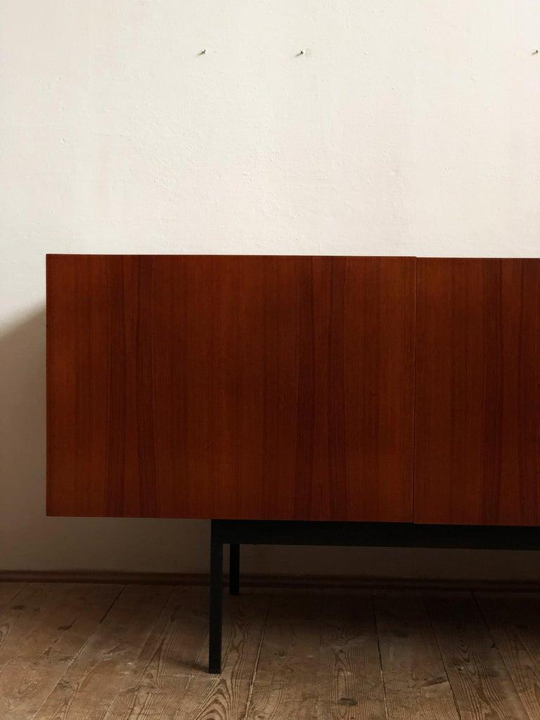 Steel Minimalist Mid Century Teak Sideboard, B40 by Dieter Waeckerlin for Behr