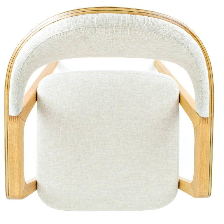 Minimalist Modern Armchair in solid wood, Brazilian Design For Sale 3