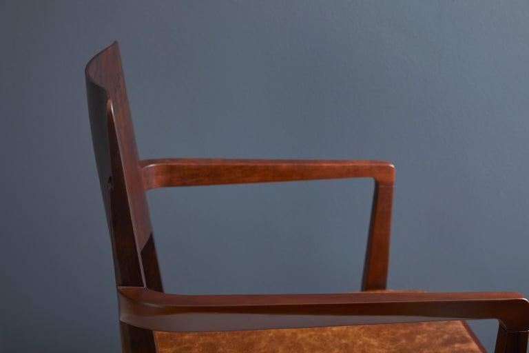 Minimalist Modern Chair in Black Imbuia Solid Wood Limited Edition For Sale 4