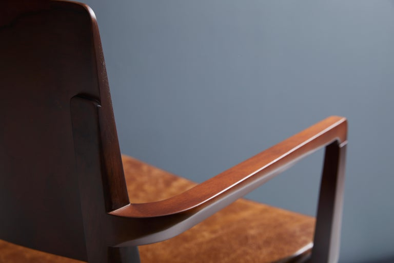 Minimalist Modern Chair in Black Imbuia Solid Wood Limited Edition For Sale 5