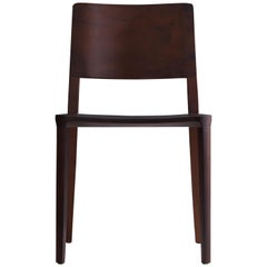 Minimalist Modern Chair in Black Imbuia Solid Wood Limited Edition