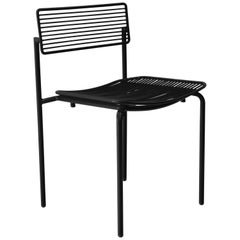 Minimalist Modern Stacking Wire Chair, The Stacking Rachel Chair in Black