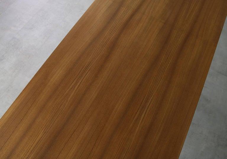 Minimalist Nathan Lindberg Design Teak and Metal Writing Table Mod. NL40 White For Sale 3