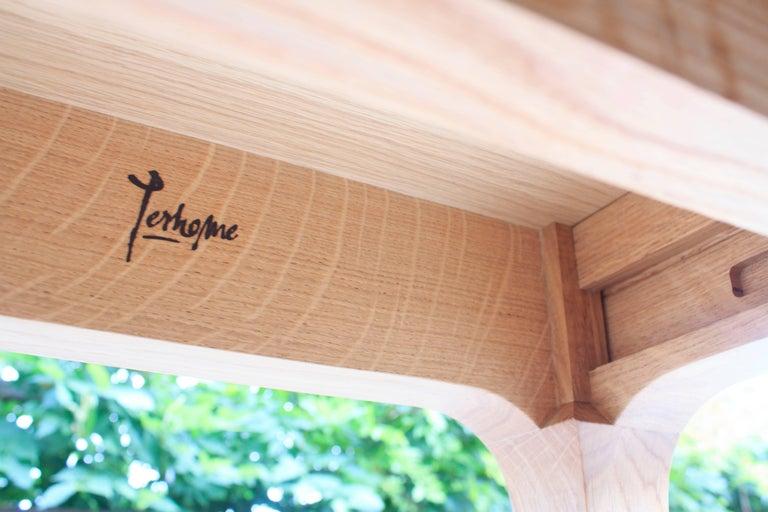 Minimalist Oak Long Dinner Table Extendable For Sale 5