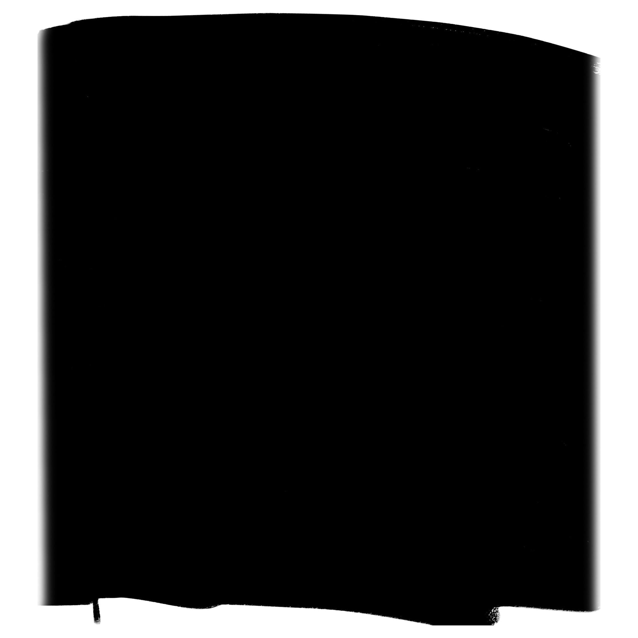 "Minimalist Oil on Canvas ""Heft"" ,2018 by BT Newton, Black & White Abstract"