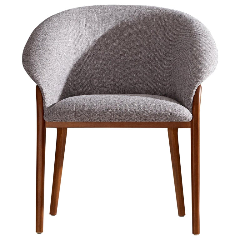 Minimalist Organic Chair in Solid Wood, Upholstered Seating For Sale