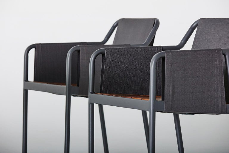 The iconic design collection, Branch is characterized by the essentiality of a robust metal structure, enriched in a flexible and expressive way by a textile coating, that creates a border-line between in and outdoor, transiting and shaping both