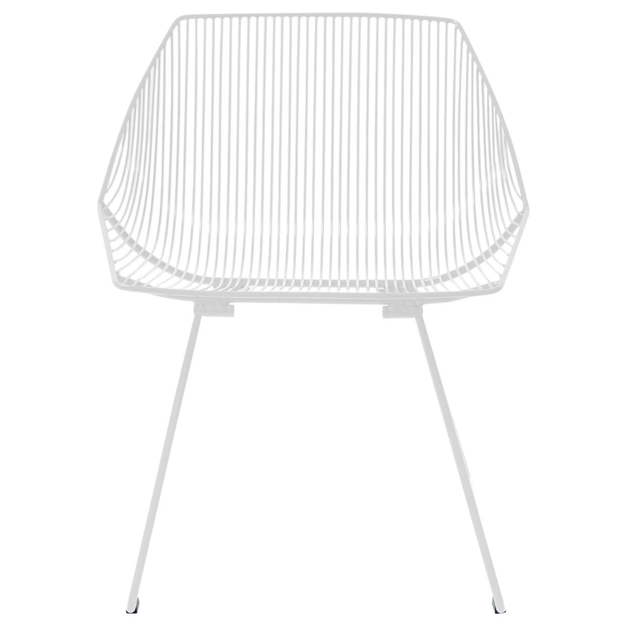 Minimalist Outdoor Wire Lounge Chair, The Bunny Lounge in White
