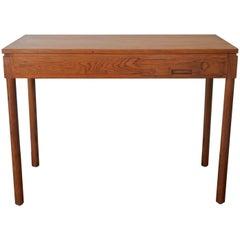 Minimalist Pinewood Desk by Pierre Gautier Delaye, France, 1950s