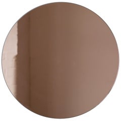 Minimalist Rose Gold or Peach Tinted Bathroom Wall Mirror Frameless, Customised
