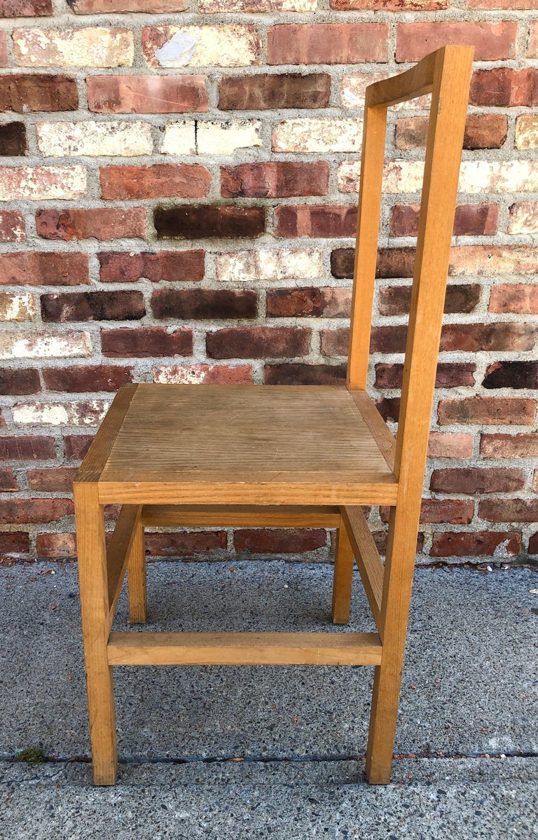 American Minimalist Side Chair in the Manner of Donald Judd For Sale