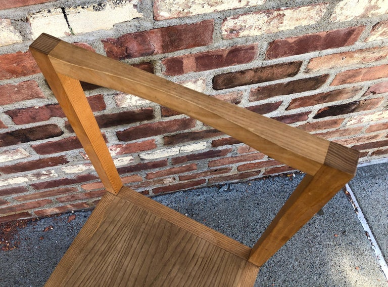 Minimalist Side Chair in the Manner of Donald Judd In Good Condition For Sale In Hudson, NY