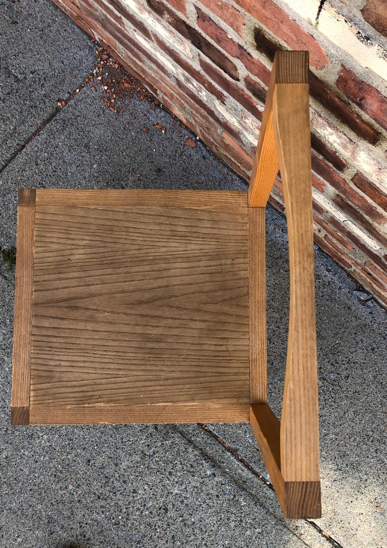 Late 20th Century Minimalist Side Chair in the Manner of Donald Judd For Sale