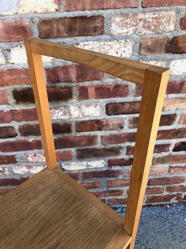 Minimalist Side Chair in the Manner of Donald Judd For Sale 3