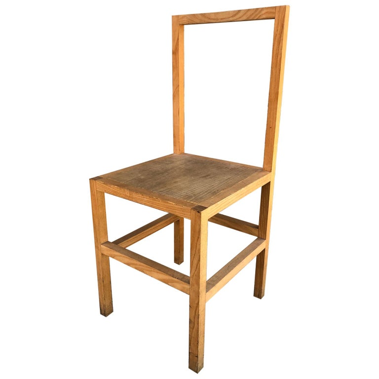 Minimalist Side Chair in the Manner of Donald Judd For Sale