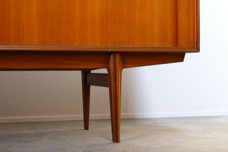 Minimalist Sideboard / Credenza by Oswald Vermaercke for V-Form 1950s in Teak For Sale 4