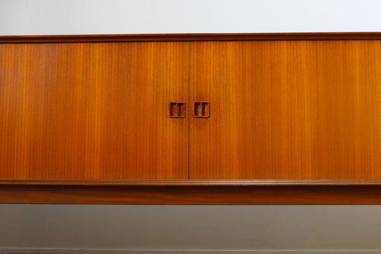 Minimalist Sideboard / Credenza by Oswald Vermaercke for V-Form 1950s in Teak For Sale 5