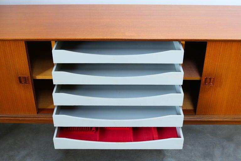 Minimalist Sideboard / Credenza by Oswald Vermaercke for V-Form 1950s in Teak For Sale 6